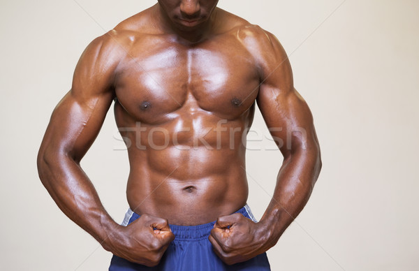 Torse nu jeunes musculaire homme muscles blanche Photo stock © wavebreak_media
