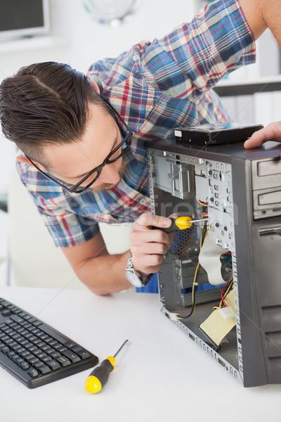 Computador engenheiro trabalhando quebrado consolá escritório Foto stock © wavebreak_media