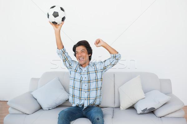 Felice calcio fan guardare tv Foto d'archivio © wavebreak_media