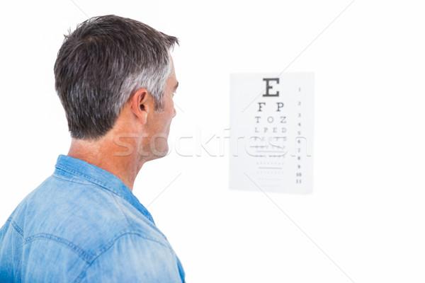 男 白髪 視力検査 白 読む 男性 ストックフォト © wavebreak_media