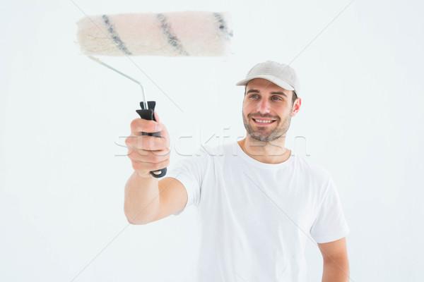 Feliz homem pintar pintura masculino felicidade Foto stock © wavebreak_media