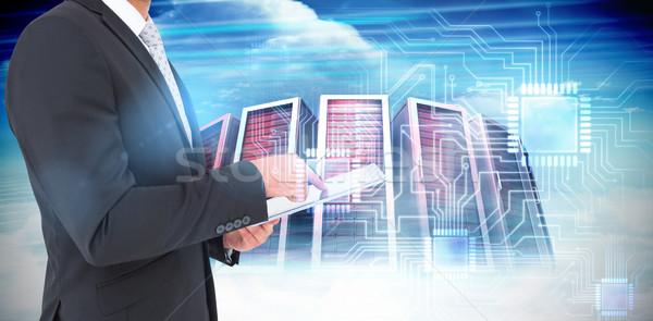 изображение бизнесмен сервер towers Сток-фото © wavebreak_media