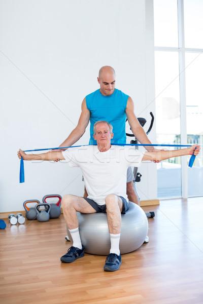 Paziente indietro fitness studio Foto d'archivio © wavebreak_media