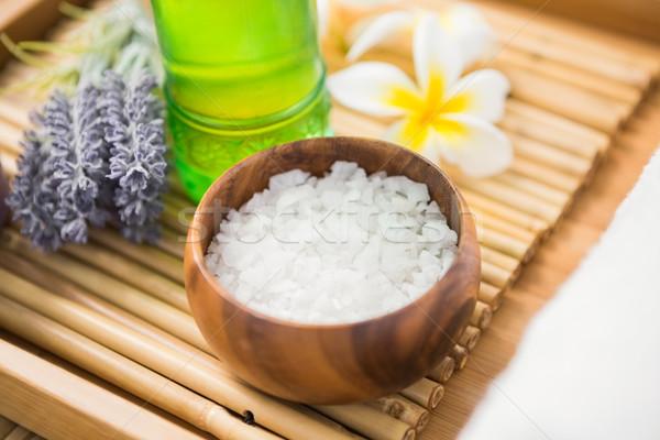 Salt scrub and oil massage  Stock photo © wavebreak_media