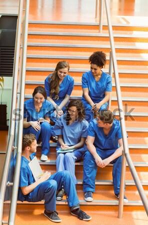 Orvosi diákok elvesz törik lépcső egyetem Stock fotó © wavebreak_media