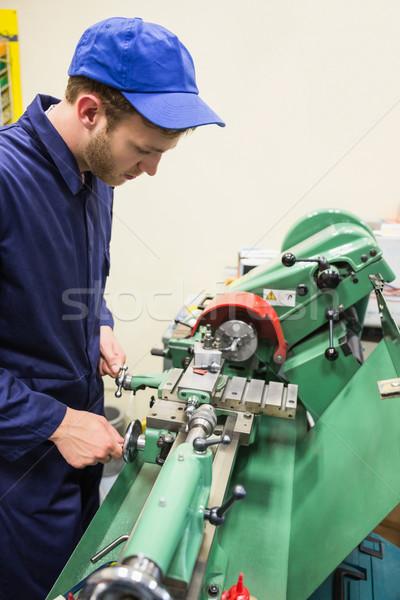 Mérnöki diák nehéz gép egyetem iskola Stock fotó © wavebreak_media