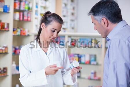 小さな 研修生 血圧 顧客 薬局 ストックフォト © wavebreak_media