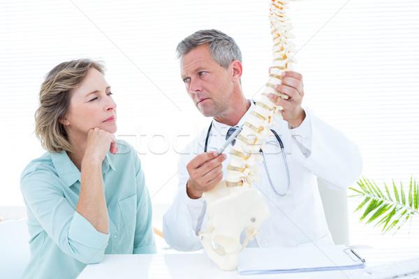 Doctor pointing anatomical spine Stock photo © wavebreak_media