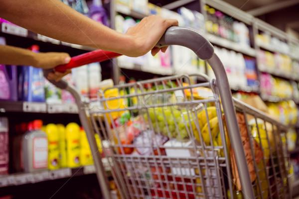 Nő vásárol termékek piac zöldség kosár Stock fotó © wavebreak_media