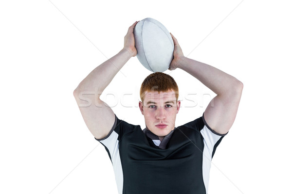 Rugby player about to throw a rugby ball Stock photo © wavebreak_media