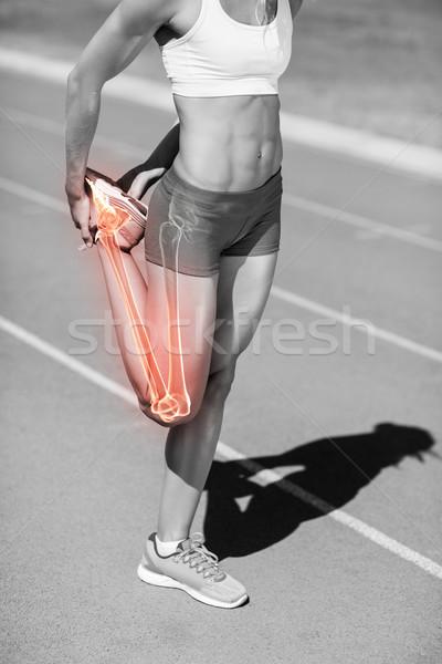 Niski sekcja sportowiec nogi utwór Zdjęcia stock © wavebreak_media