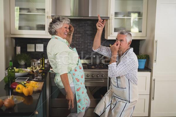 Tempo libero cucina home amore Foto d'archivio © wavebreak_media