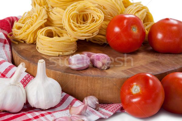 Domates sarımsak soğan peçete bez Stok fotoğraf © wavebreak_media