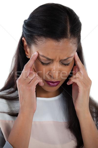 女性実業家 頭痛 クローズアップ 緑 執行 痛み ストックフォト © wavebreak_media