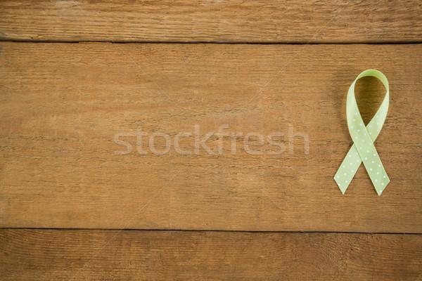 Directement au-dessus vue vert conscience ruban Photo stock © wavebreak_media
