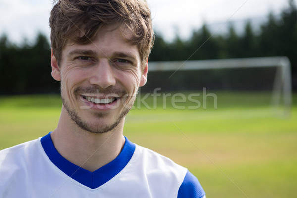 Portrait of smiling male soccer player Stock photo © wavebreak_media