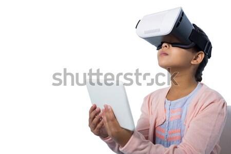 少女 デジタル タブレット バーチャル 現実 ストックフォト © wavebreak_media