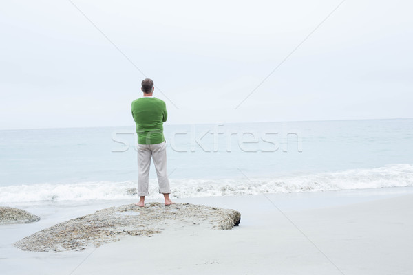 Man standing at the shoreline Stock photo © wavebreak_media
