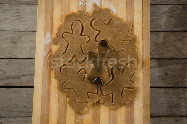Görmek gingerbread man pasta ahşap Metal Stok fotoğraf © wavebreak_media