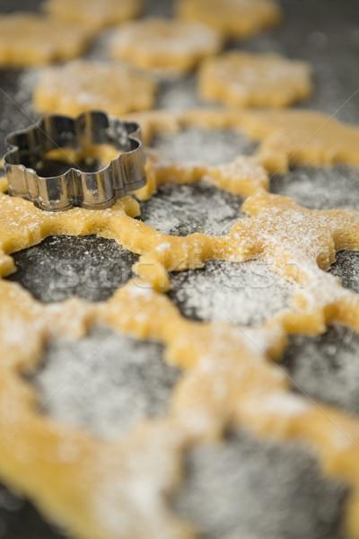 Flower shape mould on dough Stock photo © wavebreak_media