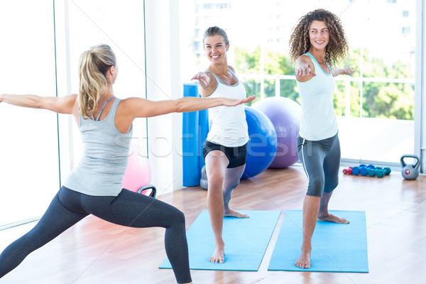 женщины воин создают фитнес студию женщину Сток-фото © wavebreak_media