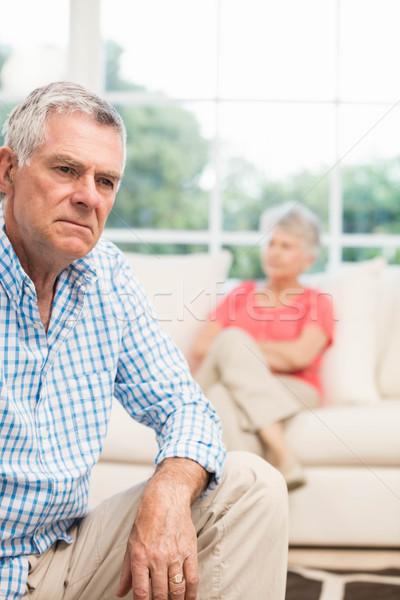 Ontdaan senior man ruzie vrouw woonkamer Stockfoto © wavebreak_media