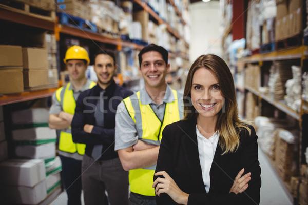 Ritratto magazzino manager lavoratori business donna Foto d'archivio © wavebreak_media