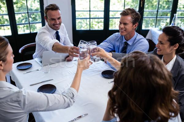 グループ ガラス 水 レストラン ストックフォト © wavebreak_media