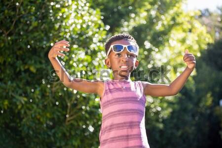 Erkek bakıyor dürbün park çocuk siyah Stok fotoğraf © wavebreak_media