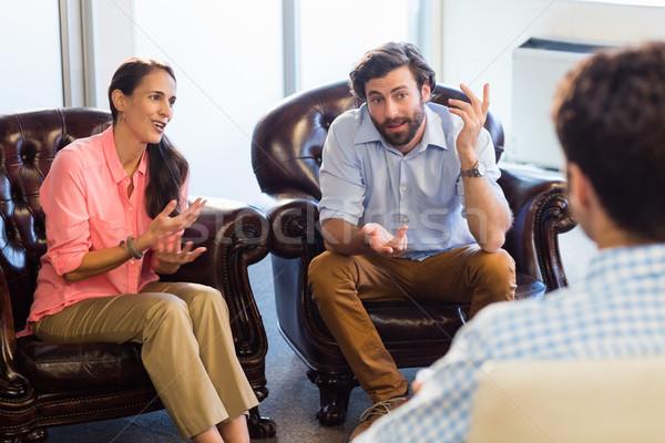 Psicólogo ajuda casal relação dificuldades escritório Foto stock © wavebreak_media