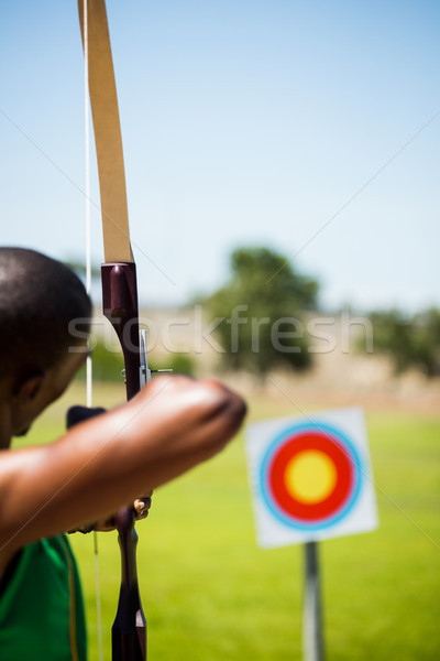 Athlete practicing archery Stock photo © wavebreak_media