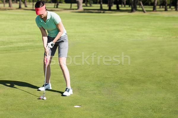 женщину играет гольф области Сток-фото © wavebreak_media
