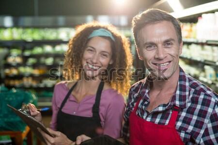 Sorridere personale digitale tablet sezione Foto d'archivio © wavebreak_media