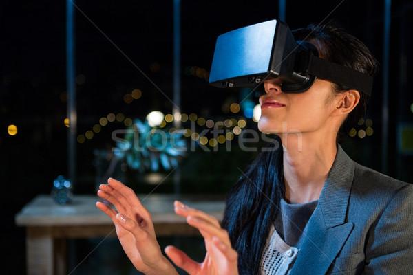 女性実業家 バーチャル 現実 ヘッド オフィス 女性 ストックフォト © wavebreak_media