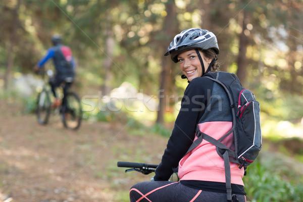 Femminile mountain bike campagna ritratto donna Foto d'archivio © wavebreak_media