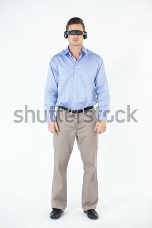 человека виртуальный видео очки белый весело Сток-фото © wavebreak_media