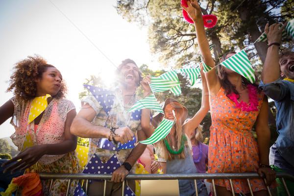 Gruppo amici dancing festival di musica parco Foto d'archivio © wavebreak_media
