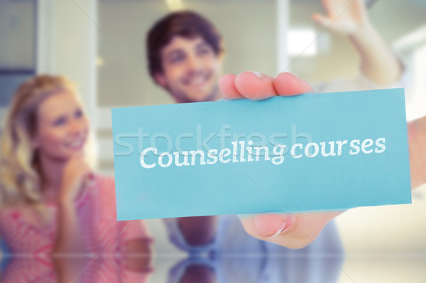Counselling courses against colleagues envisioning an idea toget Stock photo © wavebreak_media