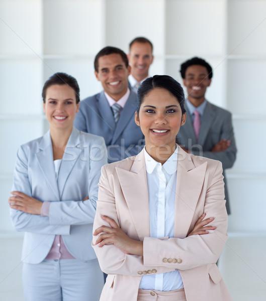 бизнес-команды Постоянный служба глядя камеры Сток-фото © wavebreak_media