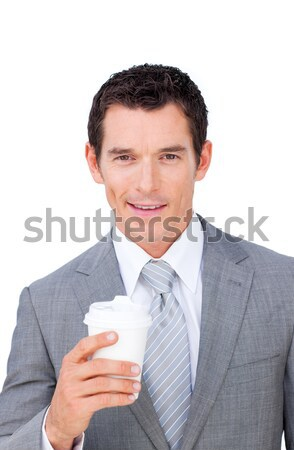 Assertive businessman holding a drinking cup  Stock photo © wavebreak_media
