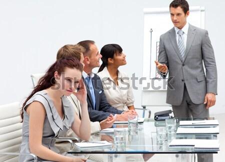 Femme d'affaires fatigué réunion belle affaires ordinateur Photo stock © wavebreak_media