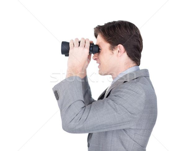 Charyzmatyczny przyszłości sprzedaży biały człowiek szczęśliwy Zdjęcia stock © wavebreak_media
