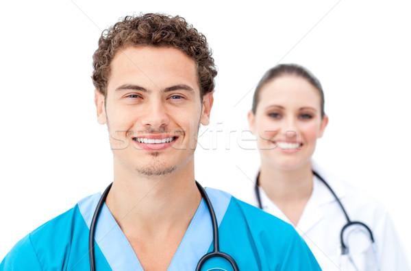 Orvosok áll csetepaté fehér mosoly orvos Stock fotó © wavebreak_media