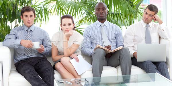 Entediado pessoas de negócios sala de espera reunião trabalhar Foto stock © wavebreak_media