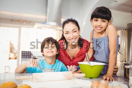 Güzel ebeveyn yardım oğul ödev adam Stok fotoğraf © wavebreak_media