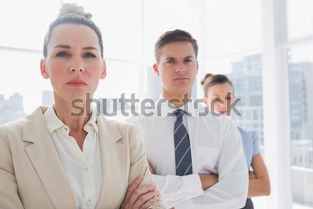 Equipo de negocios espíritu positividad hombre Foto stock © wavebreak_media