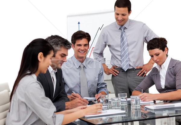 портрет бизнес-команды заседание служба женщину улыбка Сток-фото © wavebreak_media