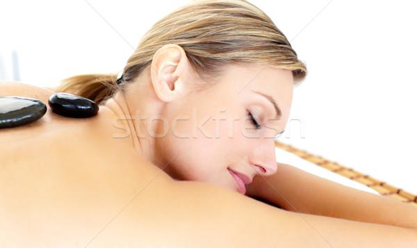 Felice donna massaggio spa mano salute Foto d'archivio © wavebreak_media
