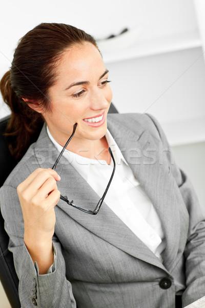 カリスマ的な ヒスパニック 女性実業家 眼鏡 座って ストックフォト © wavebreak_media