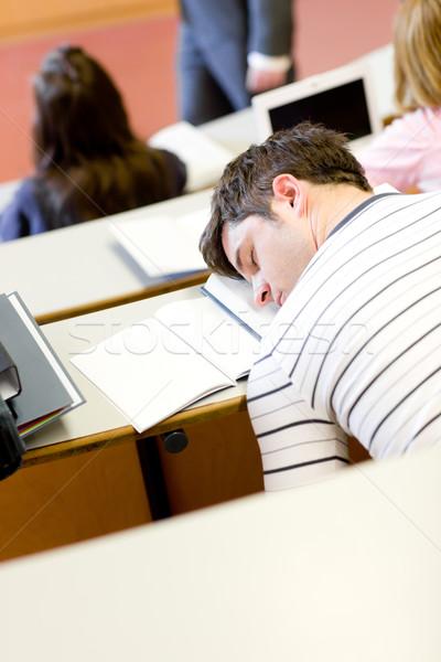 Mężczyzna student uczelni lekcja audytorium Zdjęcia stock © wavebreak_media